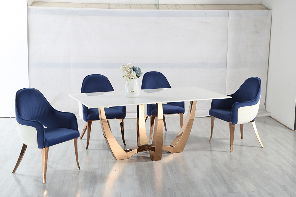Marble Gold Modern Dining Table